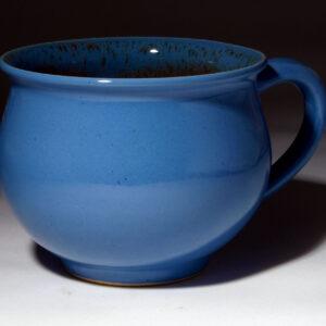 Familientasse blau glasiert